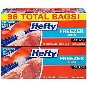 Hefty Slider Freezer Bag