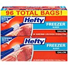Hefty Slider Freezer Bags - Gallon Size, 96 Count