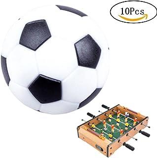 Yorgewd Balles de football de table, table Soccer Foosballs Footable Jeu Lot de 10pcs (Noir & Blanc, 36mm)