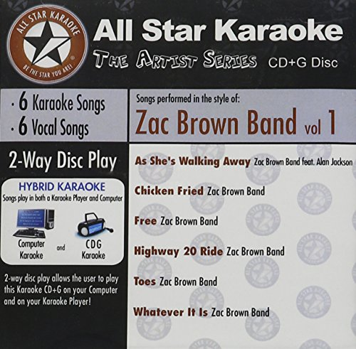 All Star Karaoke Artist Series- In The Style of Zac Brown Band Vol. 1