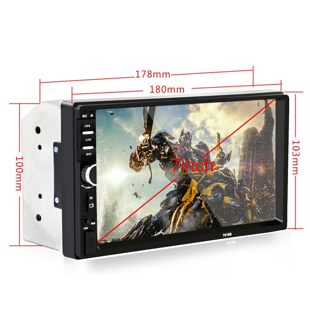 SODIAL nuovo 7inch 2 Din Touch Screen Car MP5 Player Bluetooth Stereo FM Radio USB TF AUX In