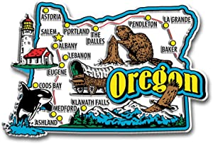 Oregon State Jumbo Map Magnet