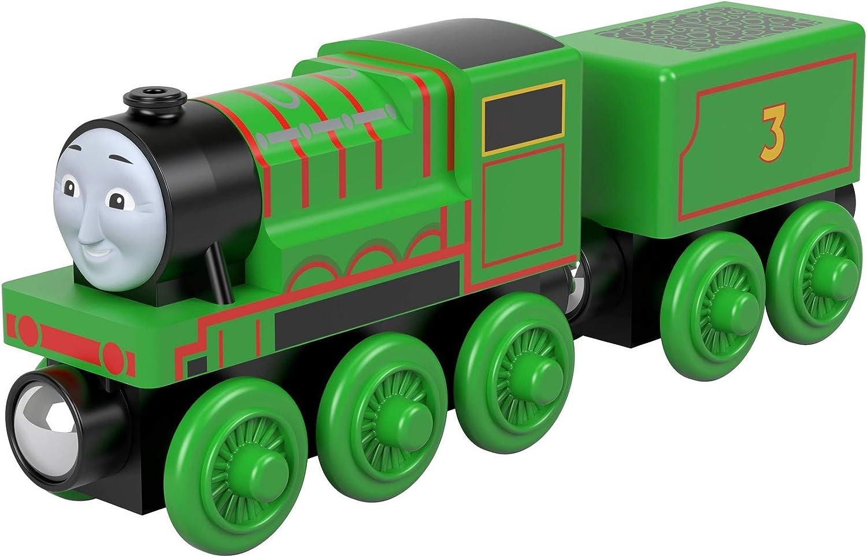Amazon Com Thomas Friends Wood Henry Push Along Train Engine Toys Games