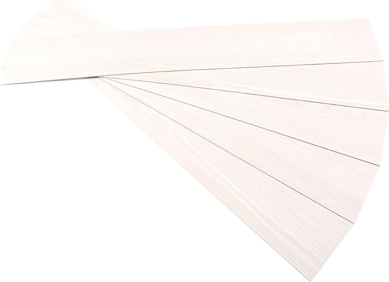ROSEROSA Peel and Stick Engineered PVC Plank Wood Pattern Durable Vinyl Flooring (ECK-901 : 5 Planks)
