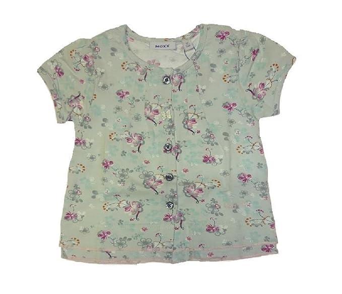 MEXX schmetterlings- t-shirt pour bébé et fleurs (gris-taille 62 fille