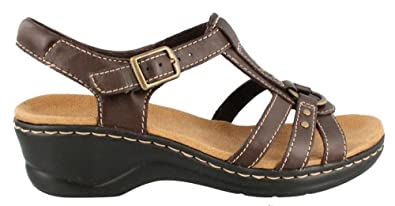 34d3ec194e95 Image Unavailable. Image not available for. Colour  Clarks Lexi Sumac  Womens Brown Leather Slingback Sandals ...