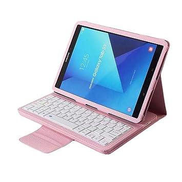 ... con función Atril y Teclado Bluetooth inalámbrico Desmontable para Samsung Galaxy Tab S3 DE 9,7 Pulgadas T820/T825 (Color Rosa): Amazon.es: Hogar