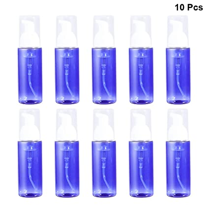 Frcolor Pequeña Dispensadoras de Jabón de Espuma de Manos de Plástico Vacías Reutilizables 10pcs 80ml (
