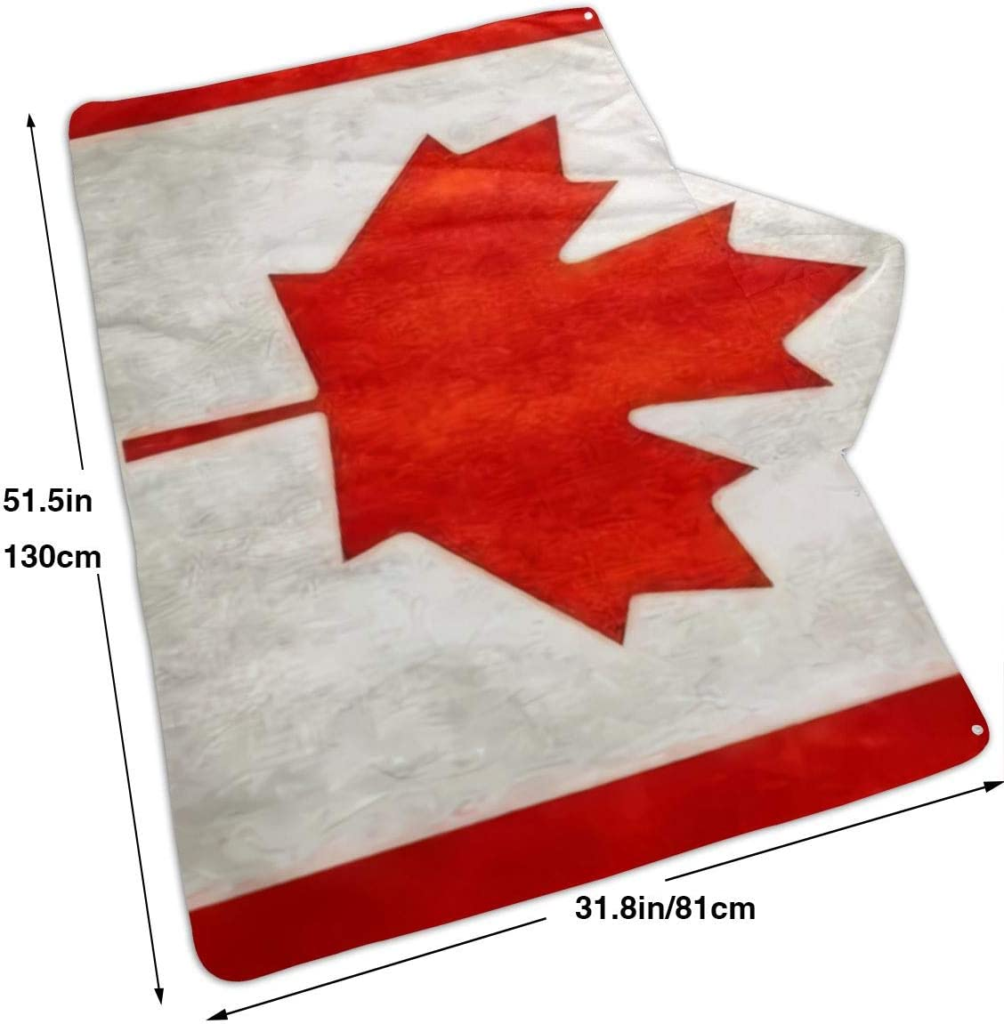 Pool Vintage Canadian Red Maple Flag Microfiber Towel Beach Travel Multicolor 31.8x51.5 Inch Quick Dry Compact for Swim Boat Beach Large 81x130cm