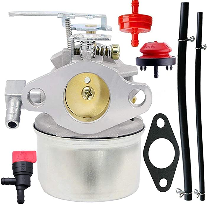 640084B Carburetor for Tecumseh 5HP MTD 632107A 632107 640084 640084A TORO 521 Snow Blower HSSK40 HSSK50 HS50 LH195SA - Tecumseh 632107 640084 640105 640299 632107A 640084A 4 & 5 HP Engines Carburetor