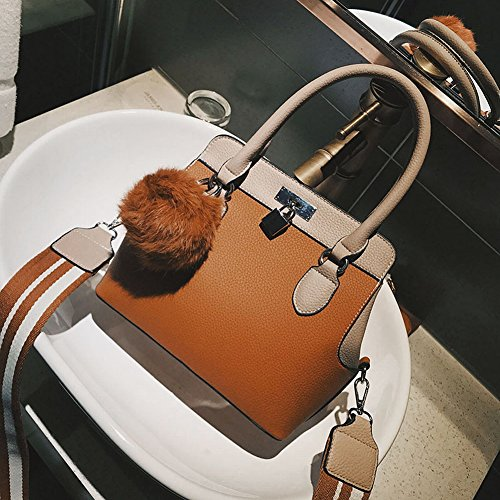 2a72bc3b0b7fd Kontrastfarbe Handtaschen Platin Tasche Mode Schultertasche Handtasche  Diagonal Handtasche Großes Paket