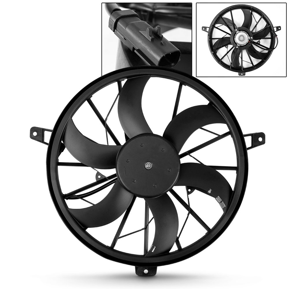 For CH3115110 Radiator AC A/C Condenser Cooling Fan Assembly For 1999-2003 Jeep Grand Cherokee 00 01 02 by AKKON