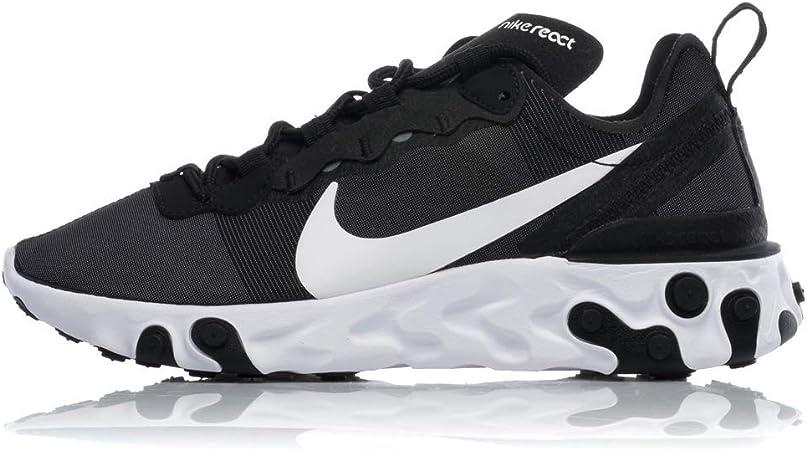molino corrupción Gran roble  Nike W React Element 55, Zapatillas de Running para Mujer, Negro  (Black/White 003), 44.5 EU: Amazon.es: Deportes y aire libre