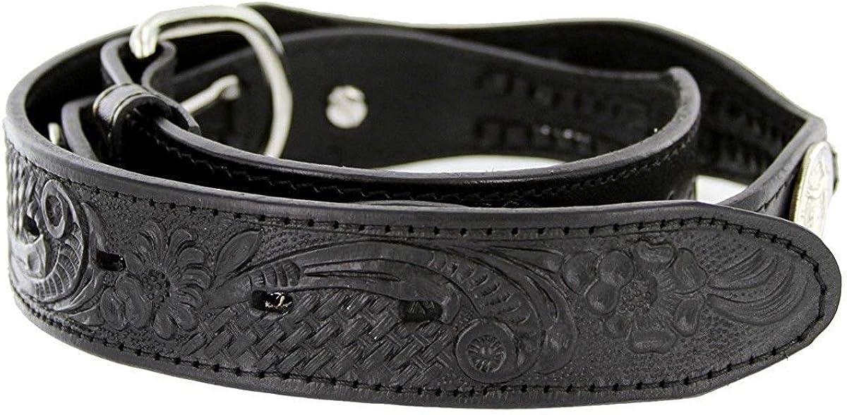 Hagora Men 1-1//2 Wide Genuine Leather Braided Coin Conchos Metal Buckle Belt