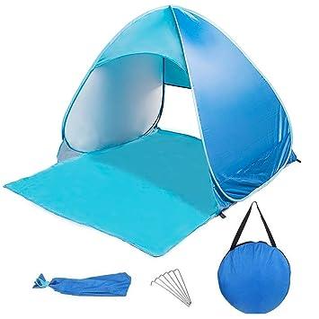 LoiStu Beach Tent Portátil Sombrilla Automática Protección UV Bolsa de Almacenamiento Impermeable y Clavo de Tierra - Beach Camping Park Escalada en ...