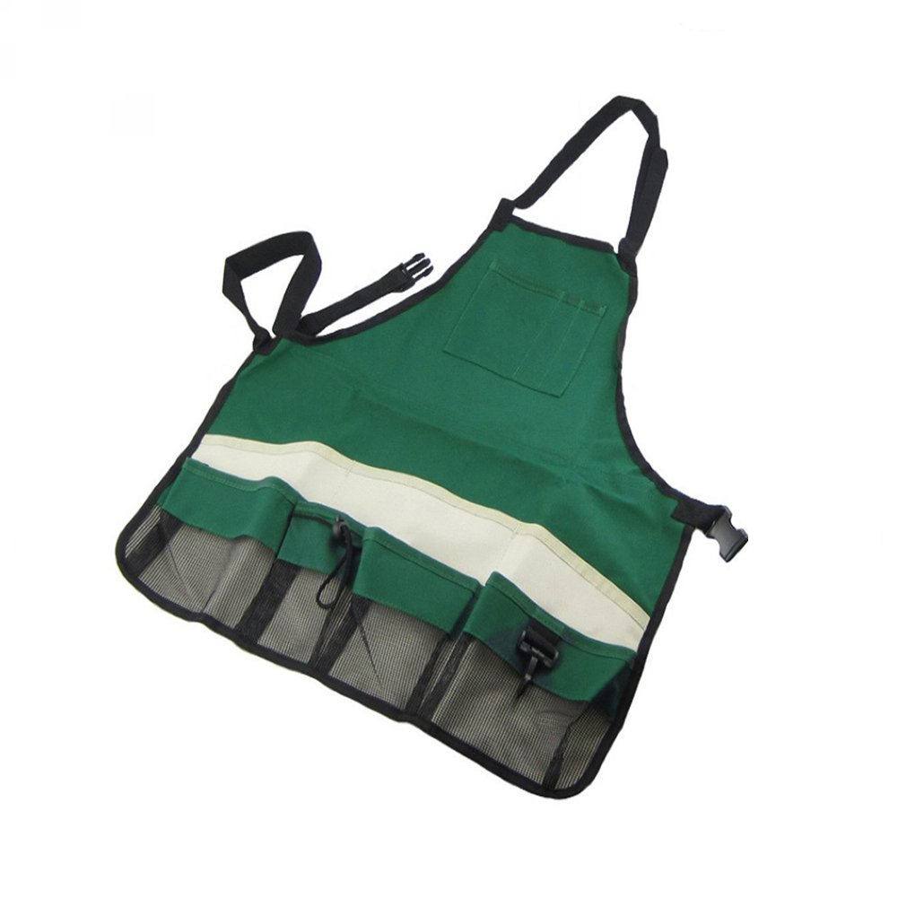 SYOOY Garden Apron with Pockets Adjustable Neck and Waist Straps for Women & Man for Gardening Carpentry Lawn Care - Waterproof