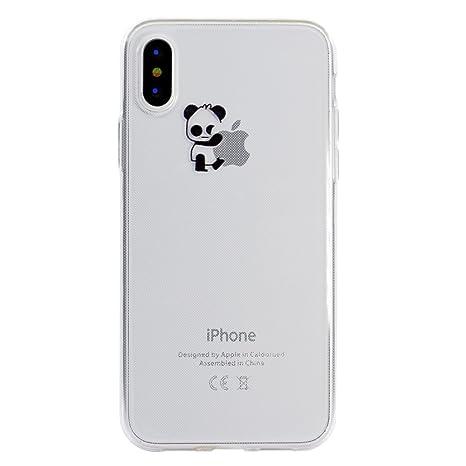 custodia iphone x silicone trasparente