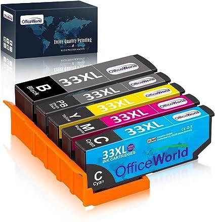 OfficeWorld Cartuchos de tinta Epson 33 33XL para Epson Expression ...