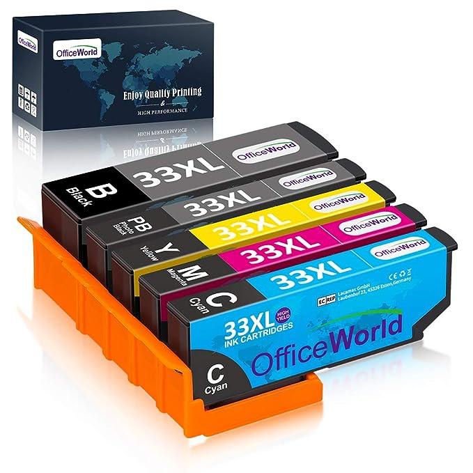 OfficeWorld Reemplazo para Epson 33XL Cartuchos de tinta Alta ...