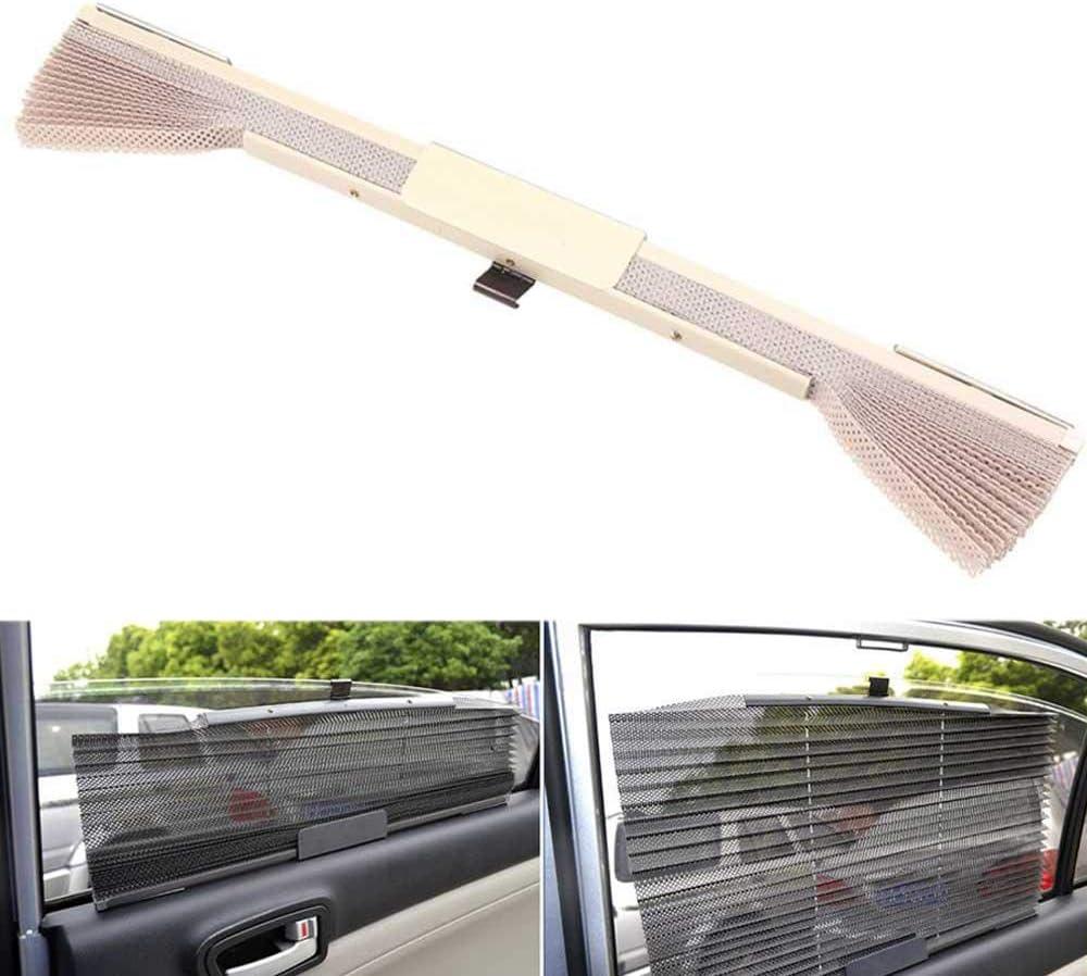 universelle atmungsaktive Auto-Erweiterung Auto-Seitenfenster-Vorh/änge mit Haken f/ür UV-Schutz SUV Sichtbares Visier sch/ützt Ihr Baby und /ältere beige einziehbar TEEPAO Auto-Sonnenschutz