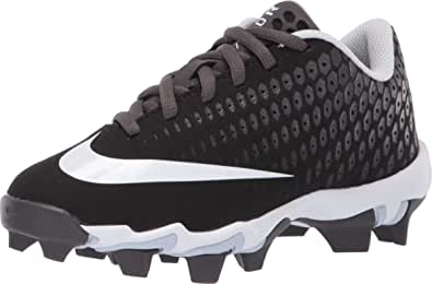 Nike Kids' Lunar Vapor Ultrafly 2 Keystone Baseball Cleats (1, Black/Grey)