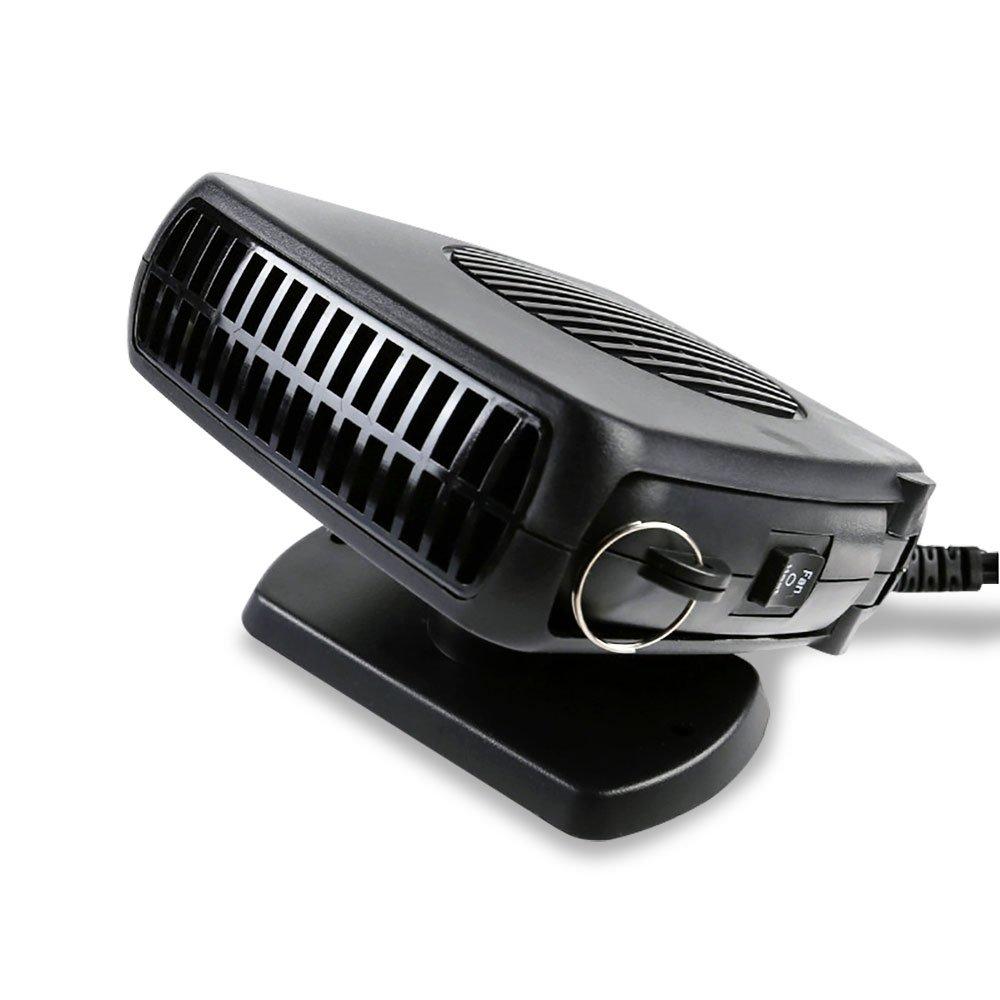 NUZAMAS 12V DC Car Demister Heater Fan for Front Windscreen Window 150W Winter / Cold Weather Foggy Screen Removal