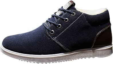 HoSayLike Zapatos De Hombre MáS Terciopelo Moda Invierno Transpirable Tendencia Calzado Deportivo Zapatos Esmerilados Mantener Caliente AdemáS De Zapatos De AlgodóN