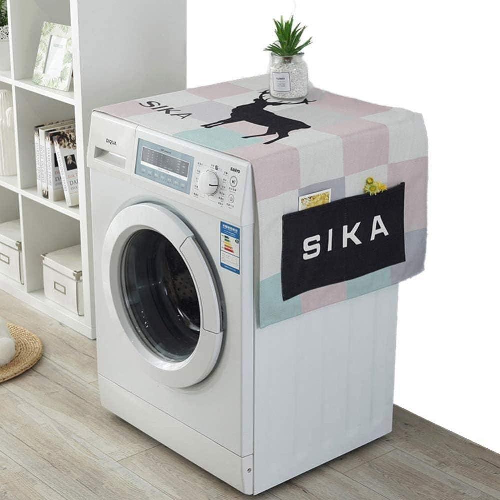 A-Generic Waschmaschinenabdeckung Mehrzweck-Waschmaschinen und Trocknerabdeckungen K/ühlschrankstaubabdeckung f/ür K/ühlschr/änke Sonnenschutzabdeckung 55X 22 A.-B.