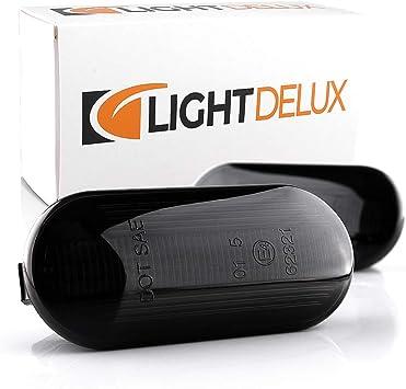 Lightdelux Ersatz Für 2 X Led Blinkleuchte Blinker Seitenblinker Dynamische Funktion Laufstreifen Mit Zulassung Black Vision V 170634lg Auto