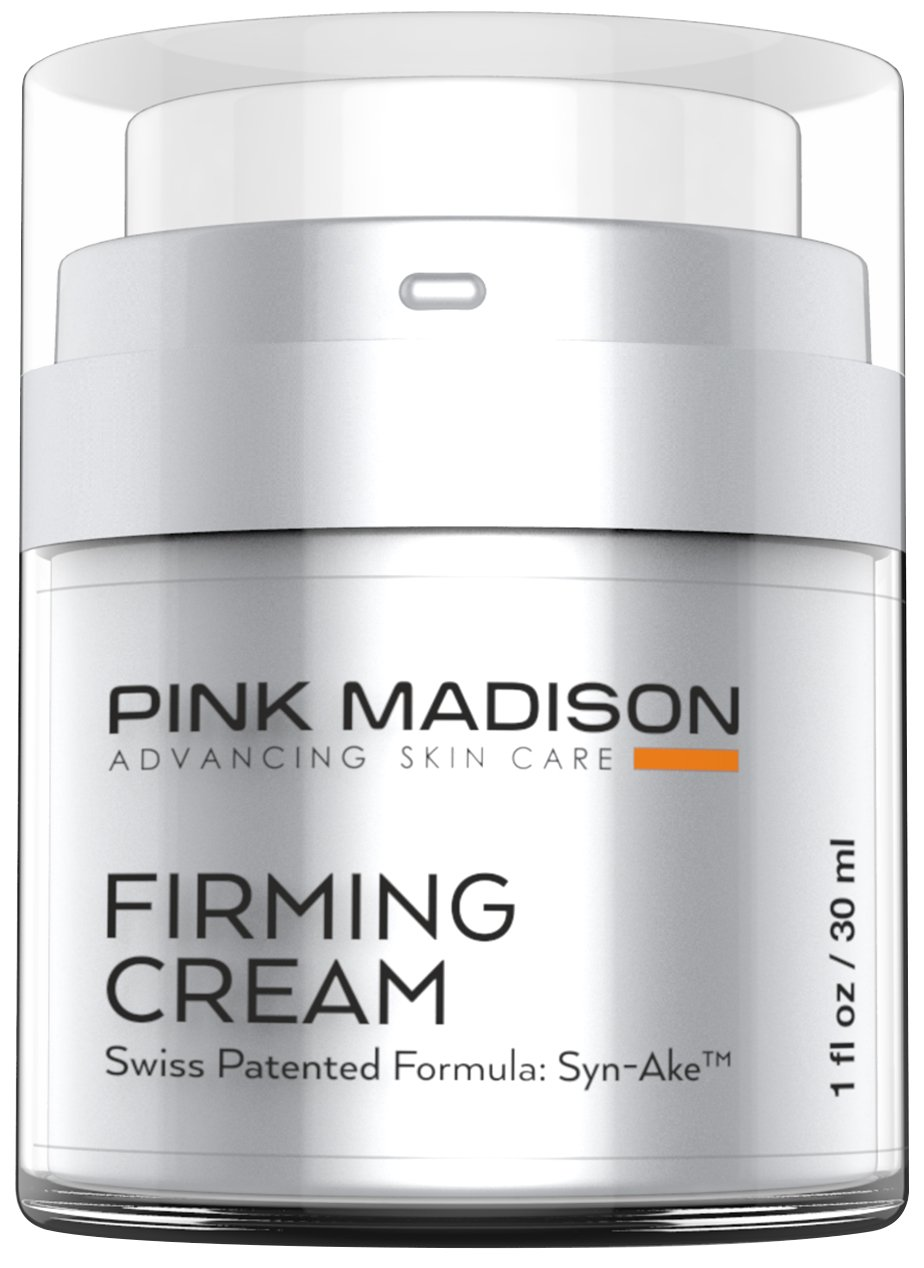 Anti Aging Face Cream. Neck and Face Tightening Cream - Botox like Firming Cream - Contains Synake - Loose Skin Tightening Anti Wrinkle Swiss Peptide Technology. Beats Any Firming Lotion. by Pink Madison