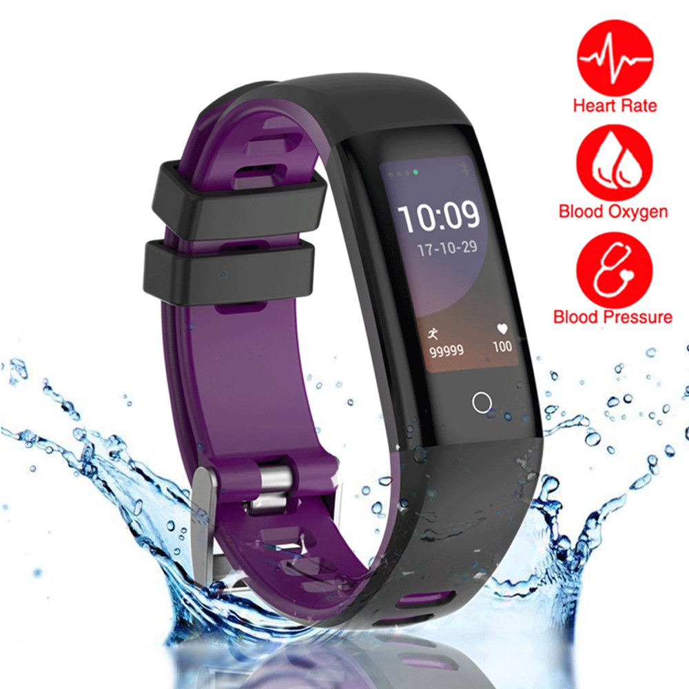 READ New Smart Fitness Tracker, Smart Watch with Blood Pressure Heart Rate Sleep Pedometer Camera Remote Shoot Blood Oxygen Monitor Smart Wristband Bracelet for Bluetooth Andriod and iOS (G16-PURPLE) by READ