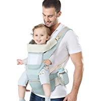 YSSKTC Baby Carrier with Lumbar Support - 360 All-Position Baby Wrap Carrier - 9-in-1 Front and Back Backpack Carrier…