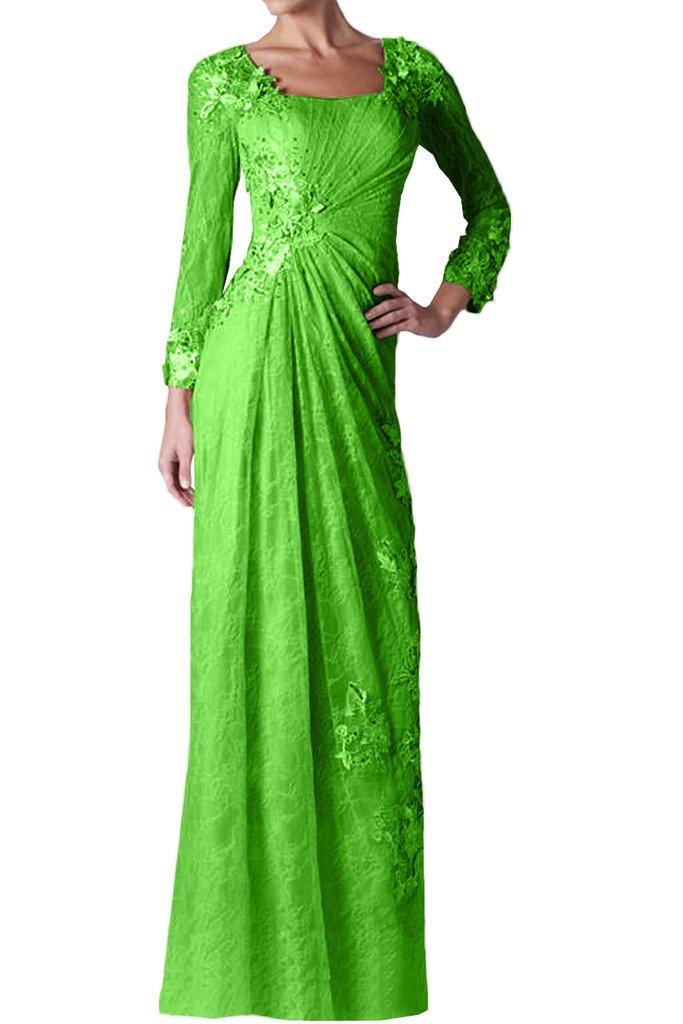 (ウィーン ブライド)Vienna Bride 披露宴用母親ドレス ロングドレス 演奏会 発表会 結婚式 母親用ドレス ママドレス 長袖 全12色 コンサート B01IP4Z5KC 15|リンゴグリーン リンゴグリーン 15