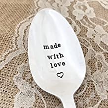 Made with love: serving spoon gift hand stamped. Wallace