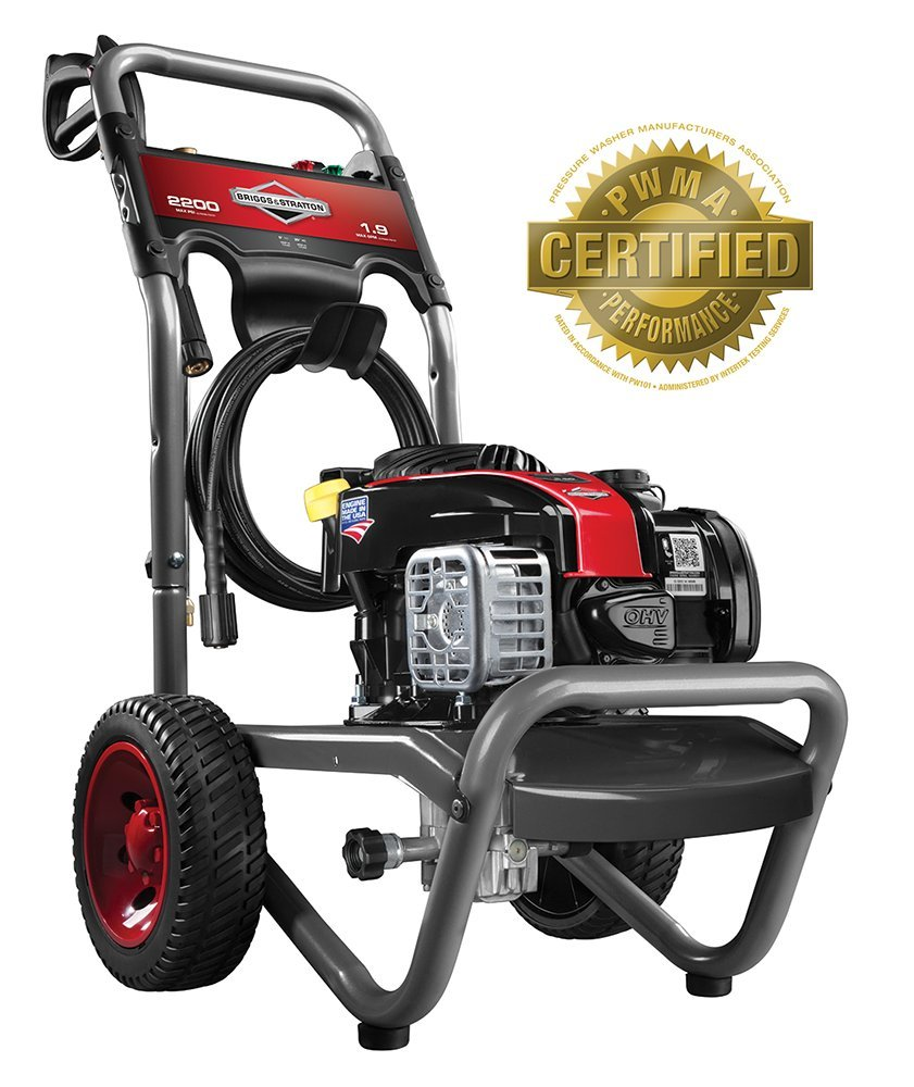 Amazon.com : Briggs & Stratton 20545 2200-PSI Gas Pressure Washer with 550e  Series OHV 140cc Engine, 1.9 GPM : Garden & Outdoor