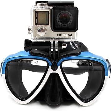 Amazon.com: TELESIN - Gafas de buceo de silicona con montura ...
