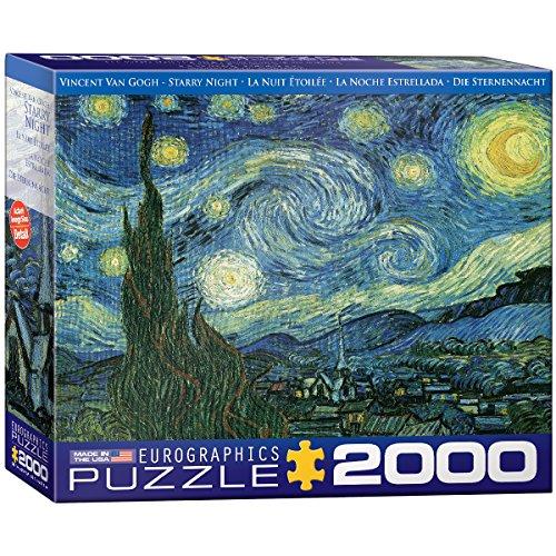 "Eurographics Puzzle 2000 Pc - Starry Night / Vincent Van Gogh """"NEW"""" (EG82201204)"