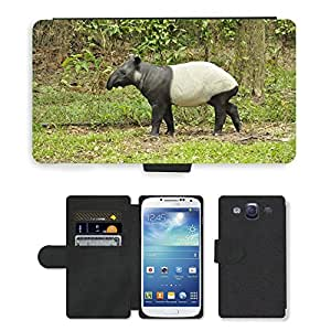 Hot Style Cell Phone Card Slot PU Leather Wallet Case // M00117460 Animals Tapir Mammal Wild Zoo // Samsung Galaxy S3 S III SIII i9300