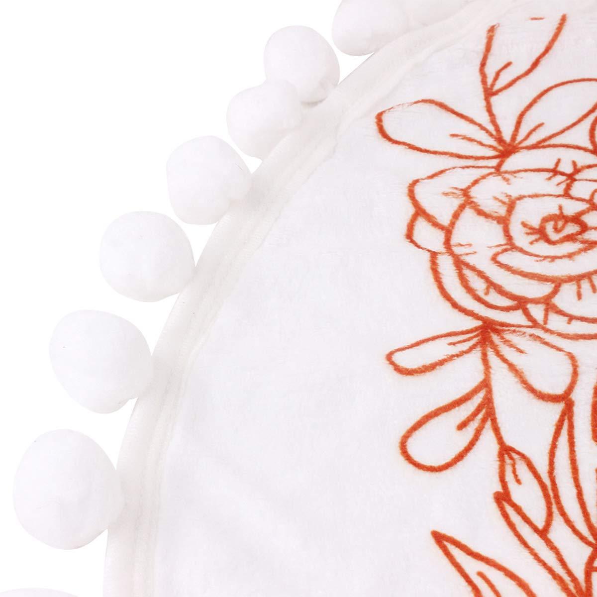 DaMohony Baby Monatliche Meilenstein-Decke Baby-Fotografie-Requisiten f/ür Neugeborene Babyparty Geschenke weicher Flanell-Pom-Ball runder Hintergrund Decke mit Rahmen