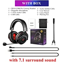 EKSA E900 Pro, Virtual 7.1 Surround Sound Gaming Headset Led USB/3.5mm Wired Headphone With Mic Volume Control For Xbox…