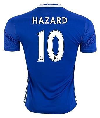 detailed look 2da32 2f970 Amazon.com: Adidas Chelsea FC No. 10 Eden Hazard Men's Home ...
