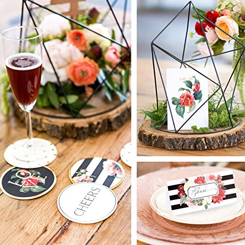 My Mind's Eye Botanical Wedding - Guest Table Decor Set Coasters by Birthday Express Kits