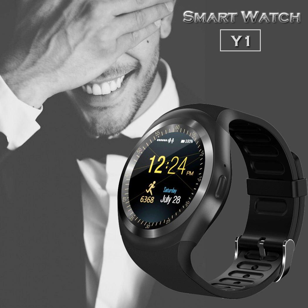 1ce76b2d130 Relógio Smartwatch Y1 Original Celular Inteligente Touch Bluetooth Chip  Ligações Pedômetro Câmera (ROSA)  Amazon.com.br  Eletrônicos