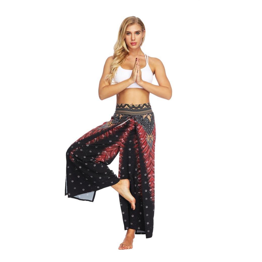 Moonuy Personnalit/é Femme Pantalon d/écontract/é Style indon/ésien tha/ï Impression num/érique Casual Pantalon Ample /à Jambe Large Pantalon de Yoga boh/ème Pants /à Imprim/é Jeans Trousers