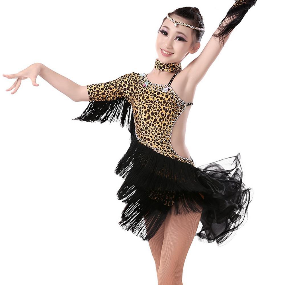 GBDSD Ballo latino per bambini esercizio latino Abbigliamento ragazze abiti costumi da ballo di danza per adulti per bambini vestiti di danza