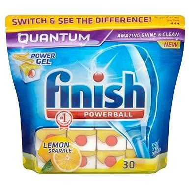 Finish Quantum Powerball - Pastillas para lavavajillas (30 ...