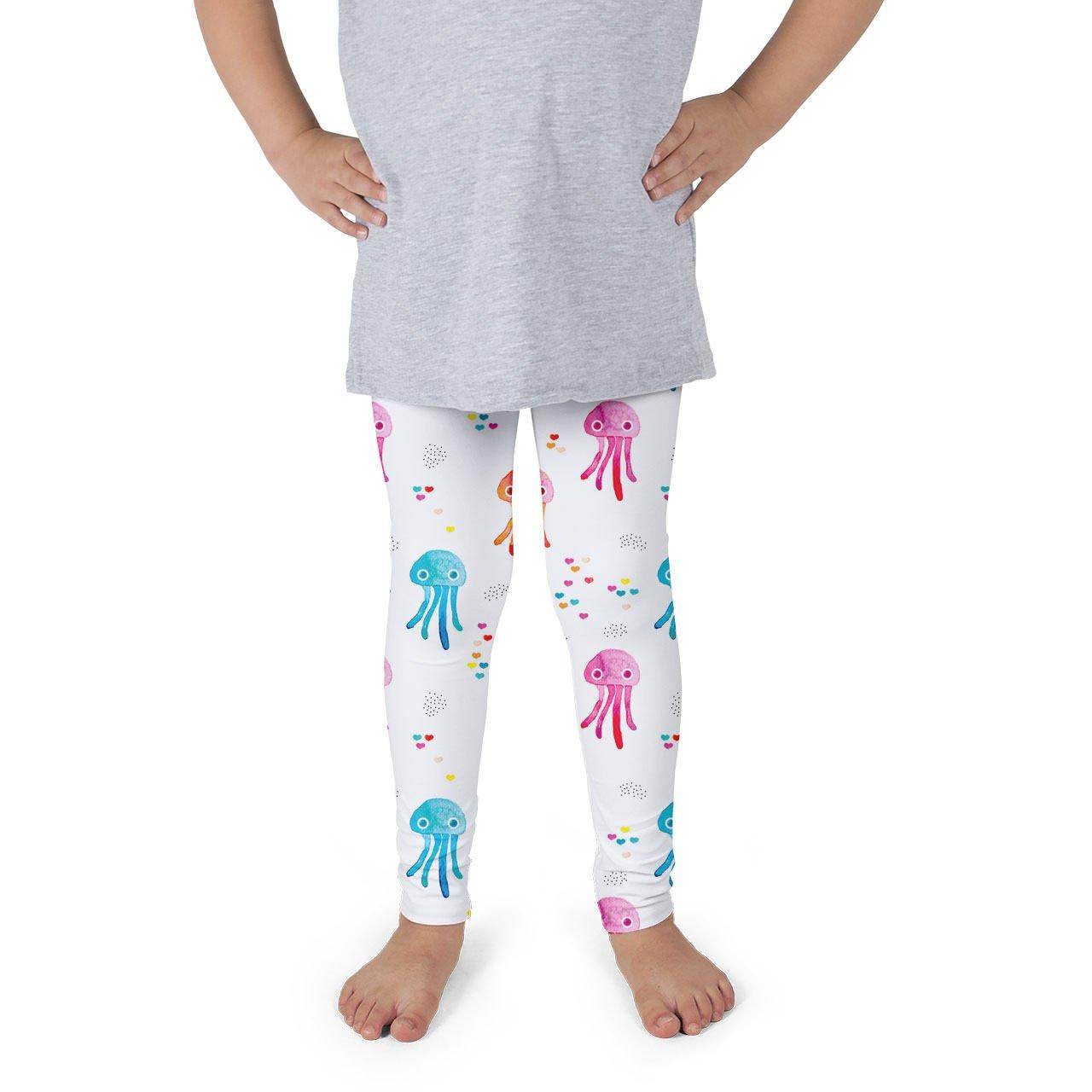 Watercolor Jelly Fish Kids Leggings