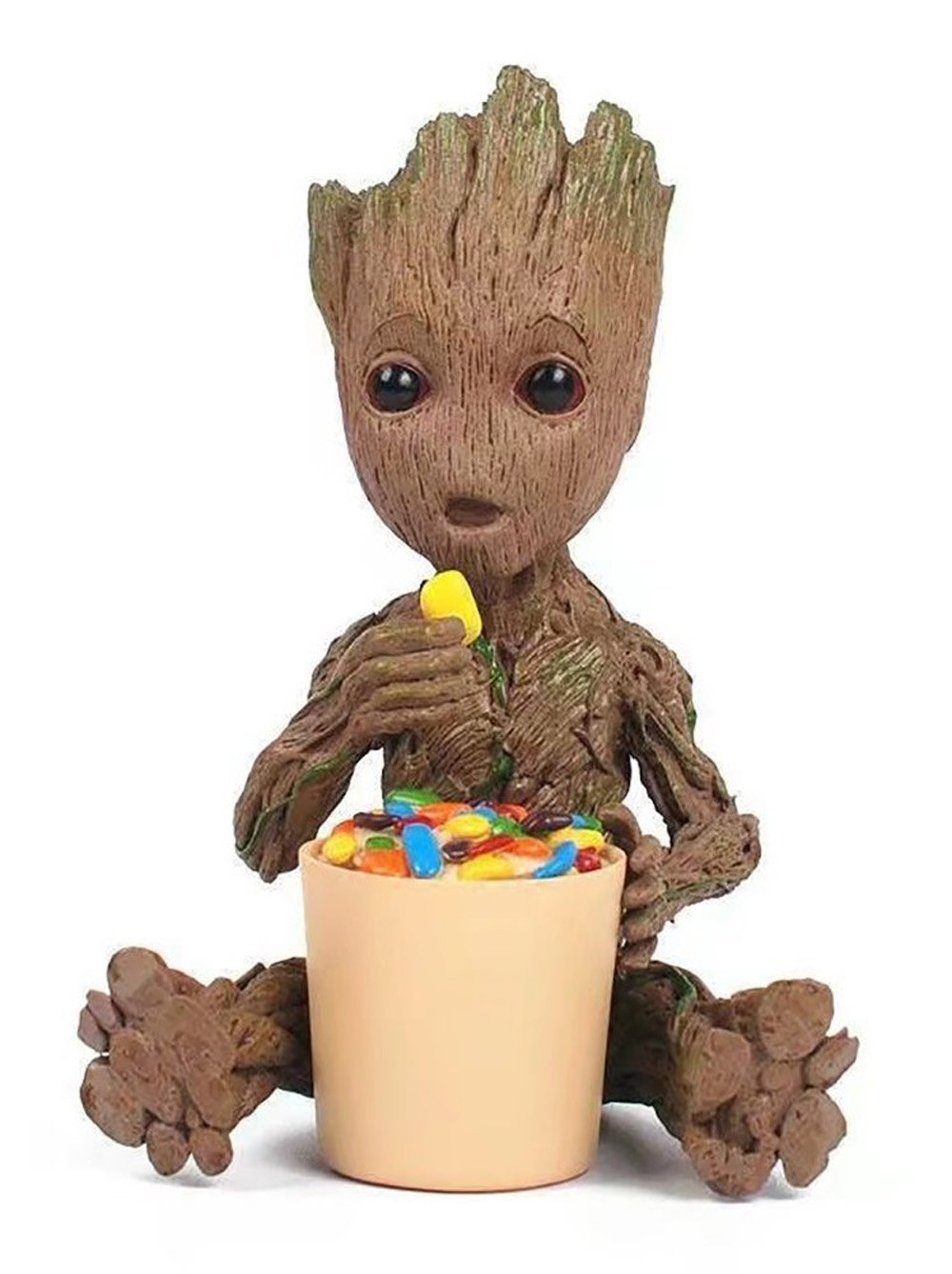Eating Candy MATECam Groot Action Figures Guardians of The Galaxy Milky Way Convoy Garage Kit Decoration Figure Resin toys (Eating Candy)