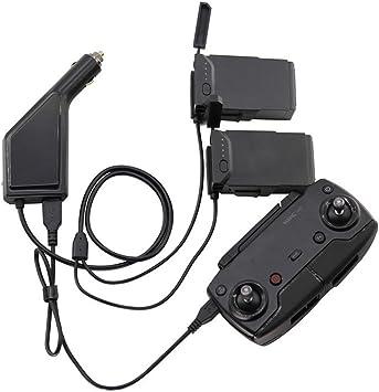 60-70 minutes de temps de charge Kingwon Chargeur de voiture pour drone DJI Mavic Air 2 port de charge de la batterie USB et charge de contr/ôle /à distance