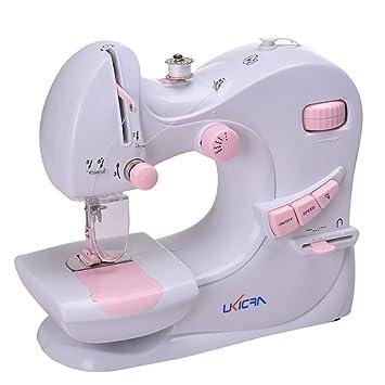 Mini Máquina de Coser Eléctrica maquina coser portátil para mujeres y niñas | 2 x Bobinas + pedal + 2 agujas + Threader + adaptador de corriente ...